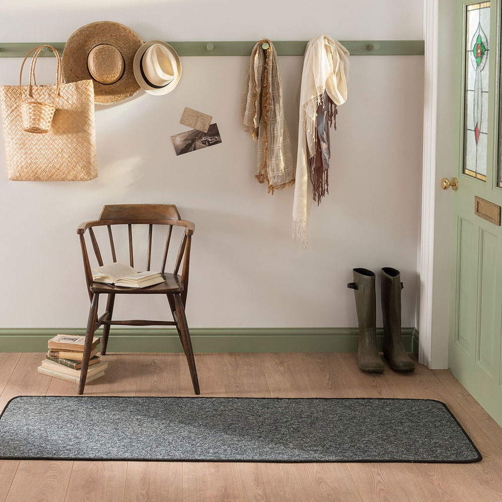 York Anthracite Runner & Door Mat